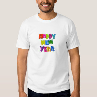 HAPPY NEW YEAR fun 3D like text T-Shirt