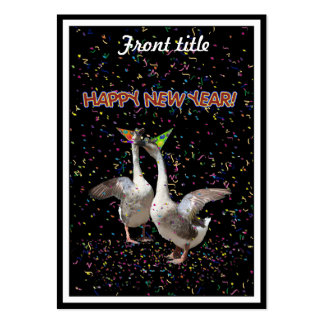 Happy New Year Geese Large Business Cards (Pack Of 100)