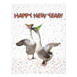 Happy New Year Geese Custom Announcements