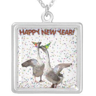 Happy New Year Geese Pendants