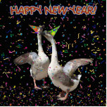 Happy New Year Geese Photo Sculptures