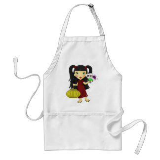 Happy New Year Girl Adult Apron