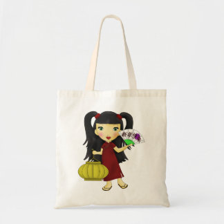 Happy New Year Girl Tote Bag