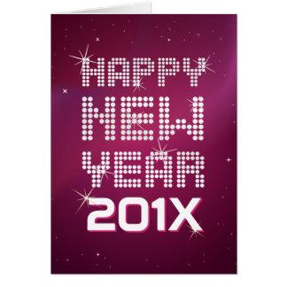 Happy New Year Glitter Glam greeting card