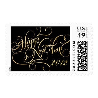 Happy New Year - Gold New Year's Eve Postage