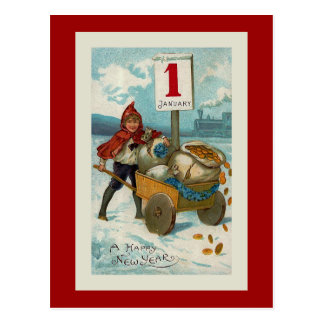 """""""Happy New Year"""" Greeting Card Post Card"""