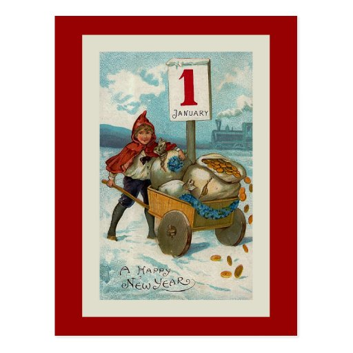 """Happy New Year"" Greeting Card Post Card"