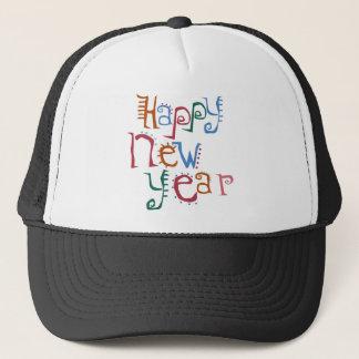 Happy New Year Greeting Trucker Hat