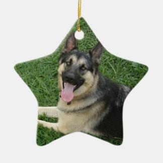Happy New Year! GSD Ceramic Ornament