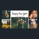 "Happy New Year Handwritten Five Photo Holiday Card<br><div class=""desc"">Happy New Year Handwritten Five Photo Holiday</div>"