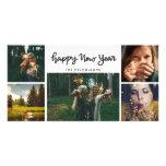 Happy New Year Handwritten Five Photo Holiday Card<br><div class='desc'>Happy New Year Handwritten Five Photo Holiday</div>
