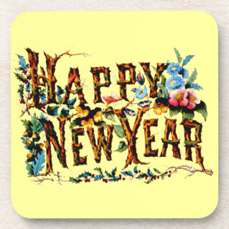 Happy New Year Hard Plastic Coasters
