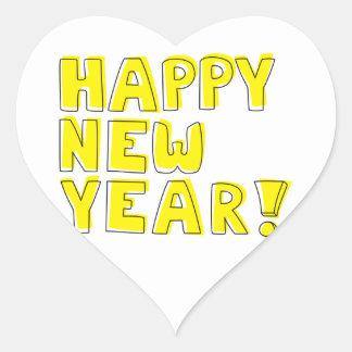 Happy New Year! Heart Sticker