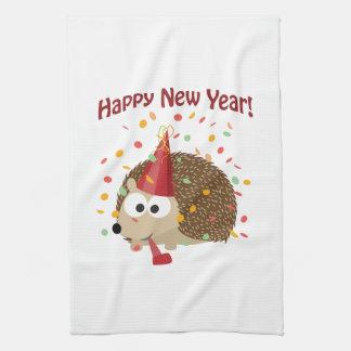 Happy New Year Hedgehog! Hand Towels