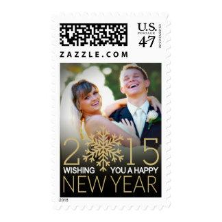Happy New Year Holiday Custom Photo Postage
