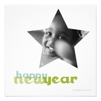 Happy New Year Holiday Photo Card Personalized Announcement