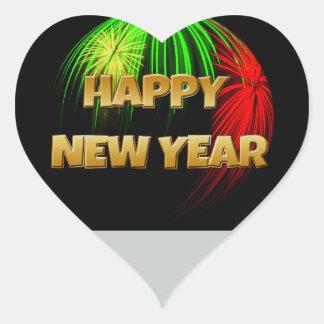 Happy New Year Image Heart Sticker