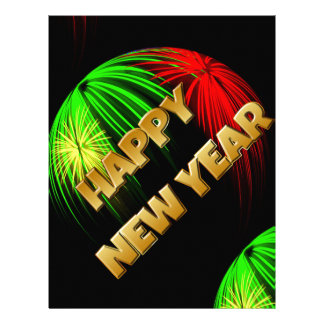 Happy New Year Image Letterhead Design