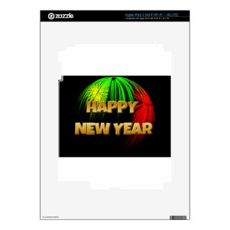 Happy New Year Image Skin For iPad 3