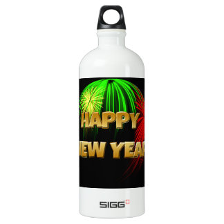 Happy New Year Image Water Bottle