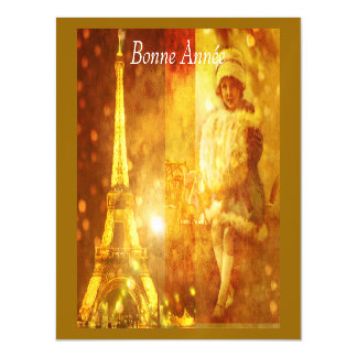 Happy New Year in Paris Magnetic Invitations