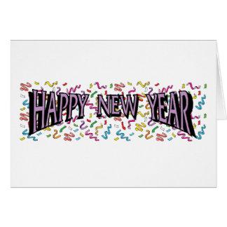 Happy New Year in Purple Card
