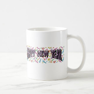 Happy New Year in Purple Classic White Coffee Mug
