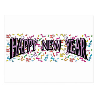 Happy New Year in Purple Postcard