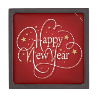 Happy New Year Jewelry Box