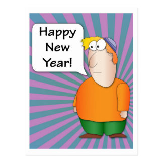 Happy New Year - Jewish boy Postcard