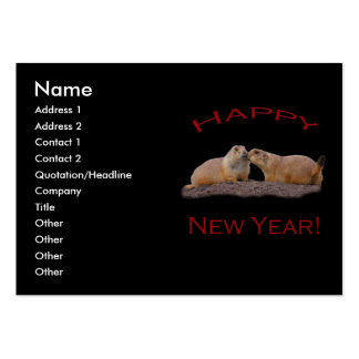 Happy New Year Kiss Large Business Cards (Pack Of 100)