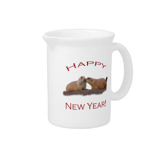 Happy New Year Kiss Pitcher