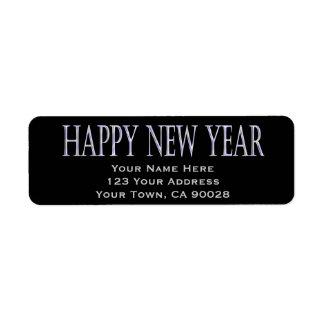 happy new year custom return address label