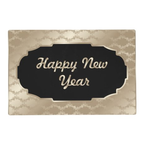 Happy New Year laminated paper place mat