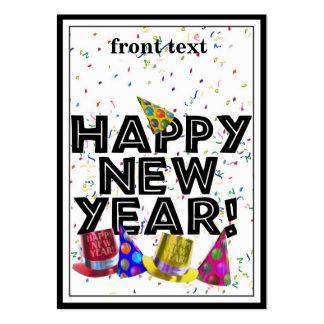 HAPPY NEW YEAR! LARGE BUSINESS CARDS (Pack OF 100)