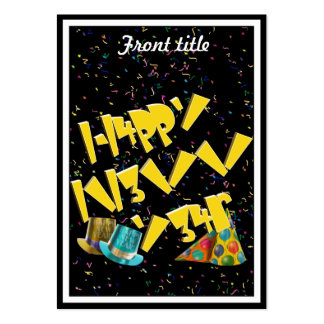 HAPPY NEW YEAR LEET LARGE BUSINESS CARDS (Pack OF 100)