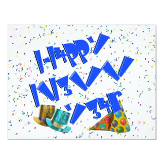 HAPPY NEW YEAR LEET PERSONALIZED ANNOUNCEMENTS