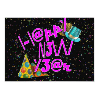 HAPPY NEW YEAR LEET PERSONALIZED INVITATIONS