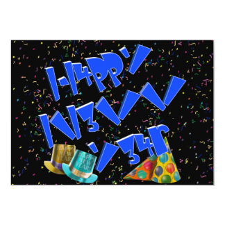 HAPPY NEW YEAR LEET CUSTOM INVITATIONS