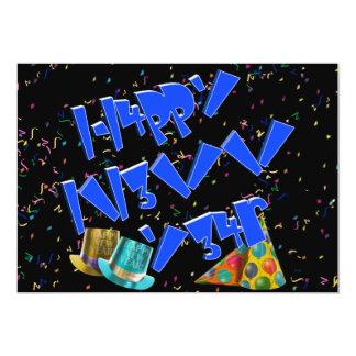 HAPPY NEW YEAR LEET PERSONALIZED INVITATION