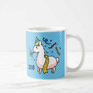 Happy New Year Llama Coffee Mug