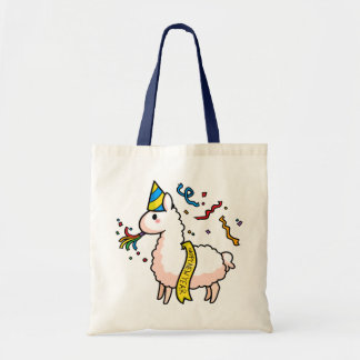 Happy New Year Llama Tote Bag
