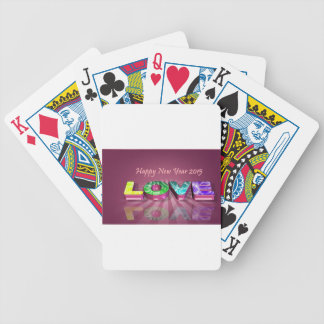 Happy New Year & love Bicycle Playing Cards