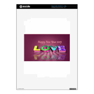 Happy New Year & love Decal For The iPad 2
