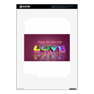 Happy New Year & love Skins For iPad 3