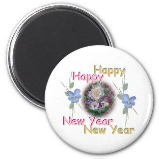 Happy New Year Refrigerator Magnet