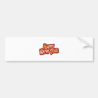 HAPPY NEW YEAR MAILING ESSENTIALS & CARDS BUMPER STICKER