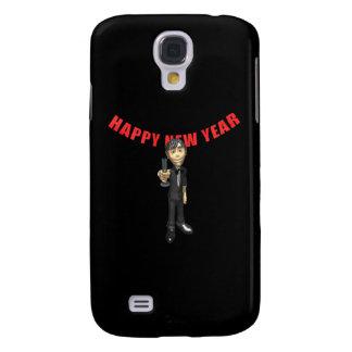 Happy New Year Man Galaxy S4 Case