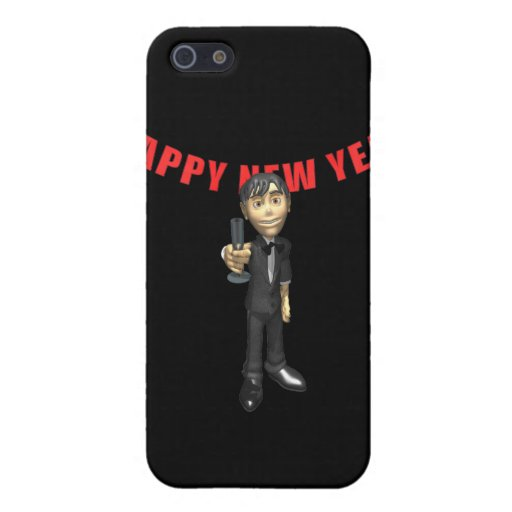 Happy New Year Man iPhone 5 Covers