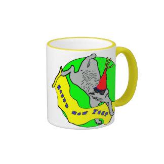 Happy New Year Meerkat Ringer Mug